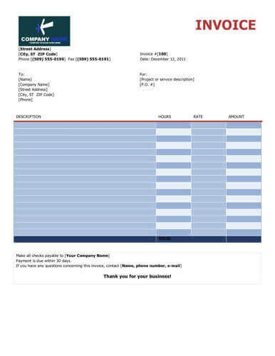 Freelance Hourly Invoice Template Freelance Hourly Invoice Template