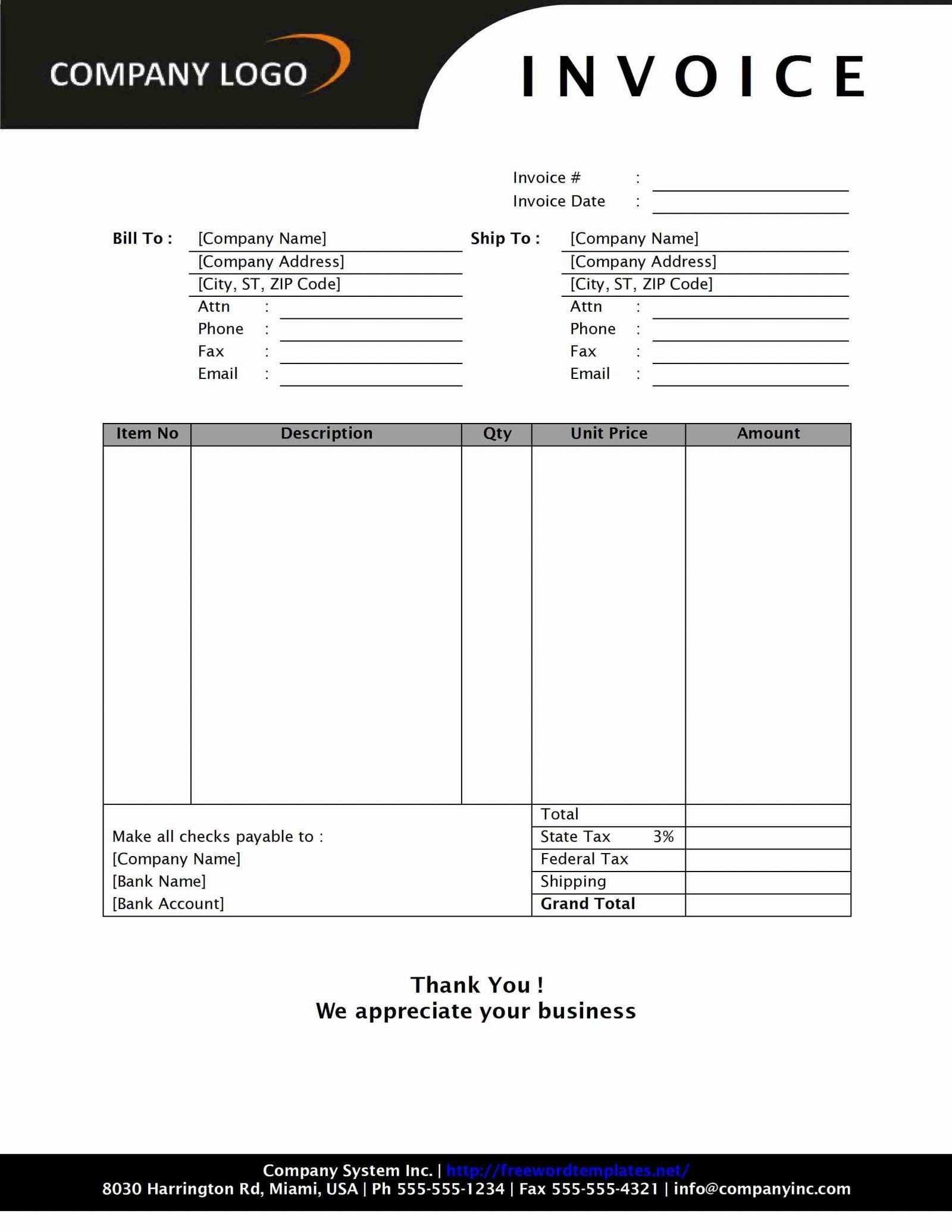 Freelance Hourly Invoice Template Hourly Invoice Template Hourlyservice Freelance Excel Pdf