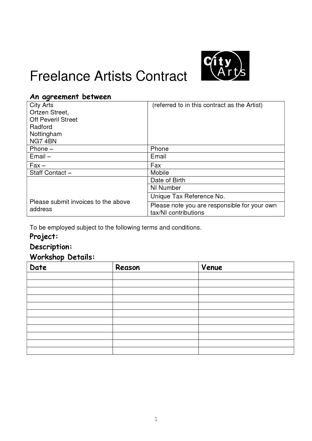 Freelance Makeup Artist Contract Template 15 Of Freelance Artist Contract Template