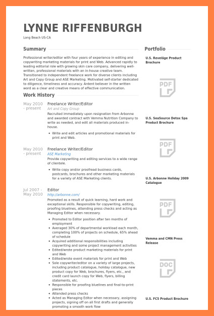 Freelance Writer Resume Sample 5 Freelance Writer Resume
