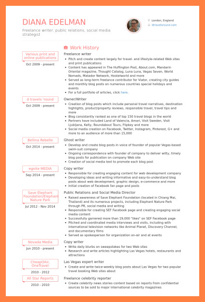 Freelance Writer Resume Sample 9 Freelance Writer Resume Sample