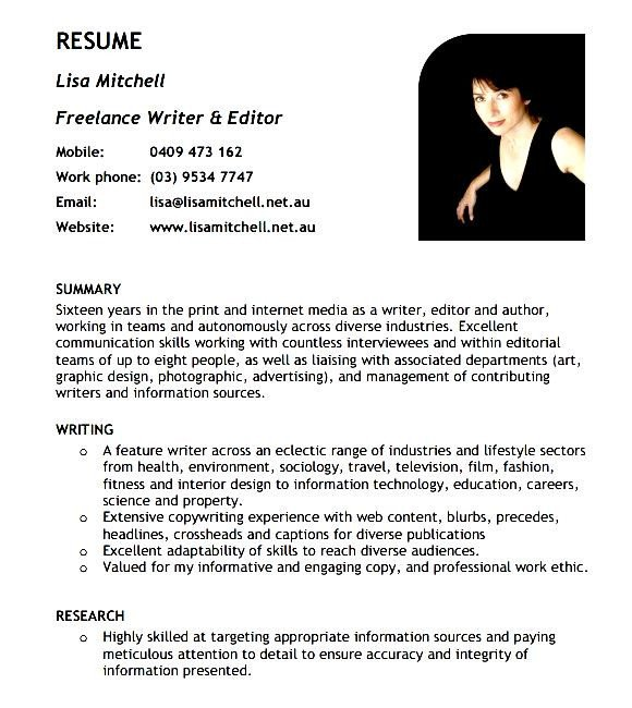 Freelance Writer Resume Sample Curriculum Vitae Freelance Writer 7 Powerful Steps for