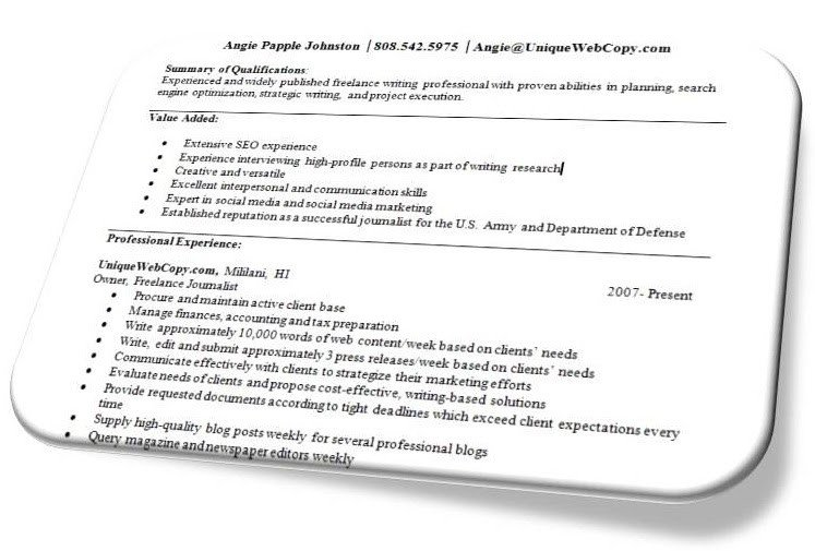 Freelance Writer Resume Sample Freelance Writer Resumes Freelance Writing Tips