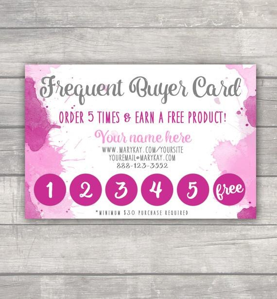 Frequent Buyer Card Template Frequent Buyer Punch Card Marykay Lularoe Younique R&f