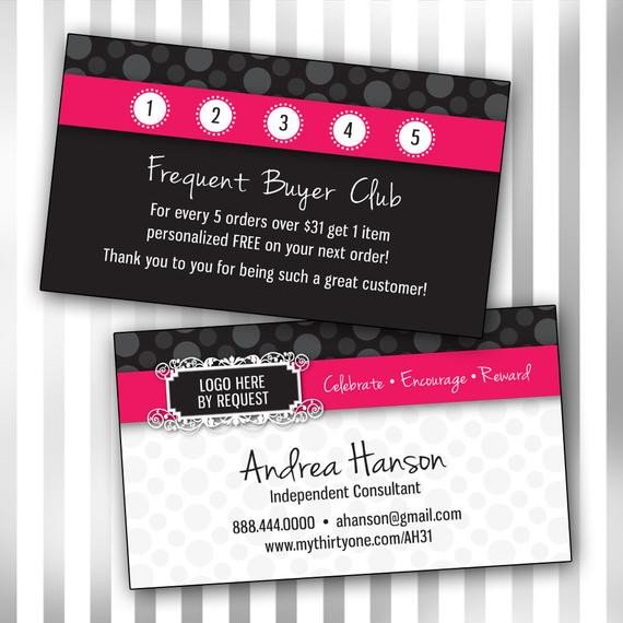 Frequent Buyer Card Template Items Similar to Custom Consultant Double Sided Business