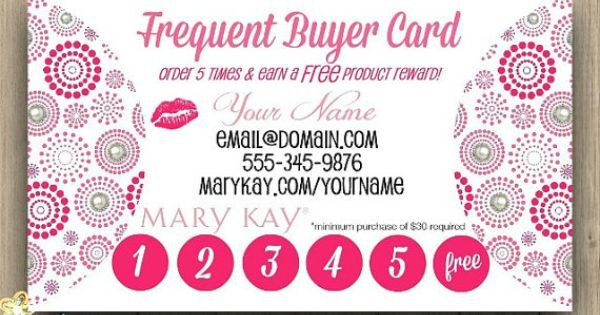 Frequent Buyer Card Template Mary Kay Frequent Buyer Card Business Card by