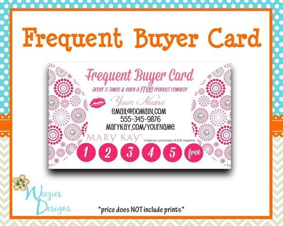 Frequent Buyer Card Template Mary Kay Frequent Buyer Card Business Card Direct Sales