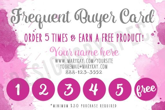 Frequent Buyer Card Template Off Coupon On Frequent Buyer Punch Card Marykay
