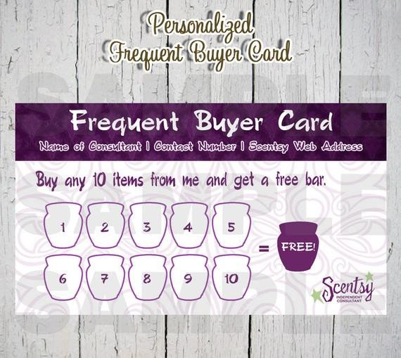 Frequent Buyer Card Template Personalized Frequent Buyer Card by Aplusprints On Etsy
