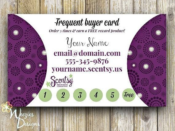 Frequent Buyer Card Template Scentsy Frequent Buyer Card Business Card Direct Sales