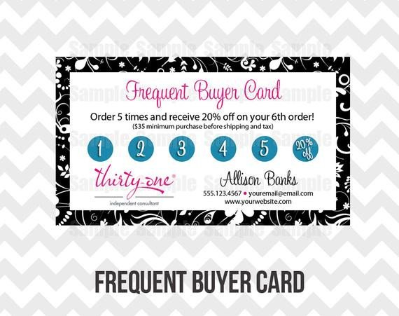 Frequent Buyer Card Template Thirty E Loyalty Frequent Buyer Business Card Printable