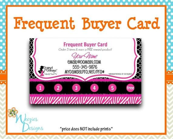 Frequent Buyer Card Template Unavailable Listing On Etsy