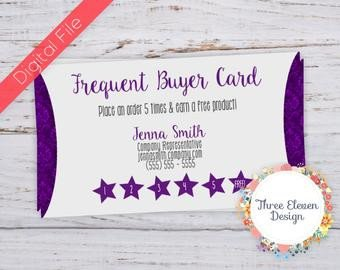 Frequent Buyer Card Template Younique Customer Loyalty Punch Card Business Card Design