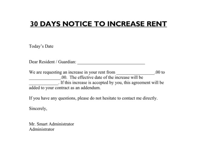 Friendly Rent Increase Letter 9 Samples Of Friendly Rent Increase Letter format for Tenants