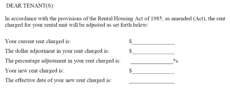 Friendly Rent Increase Letter A Letter to the Editor Dc S Fice Of the Tenant Advocate