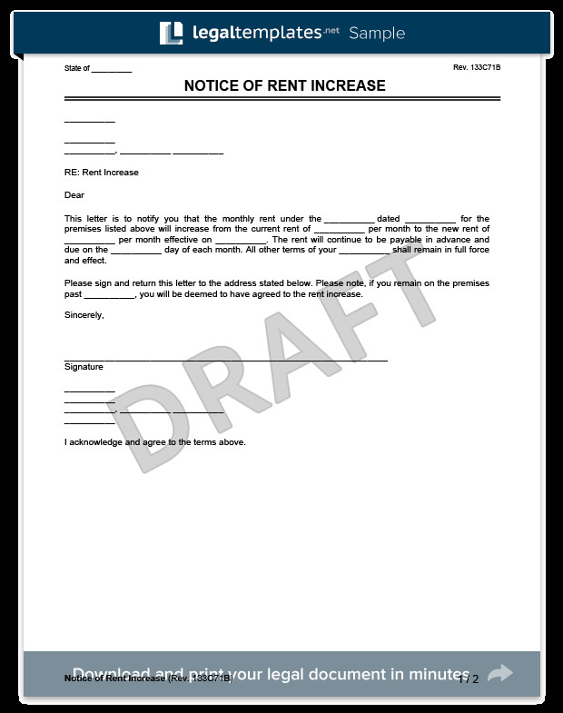 Friendly Rent Increase Letter Create A Rent Increase Notice In Minutes