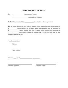 Friendly Rent Increase Letter Medical Consent form Medical Consent form