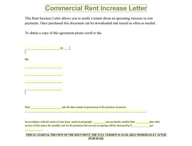 Friendly Rent Increase Letter Rent Increase Letter 7 Samples In Word Pdf format