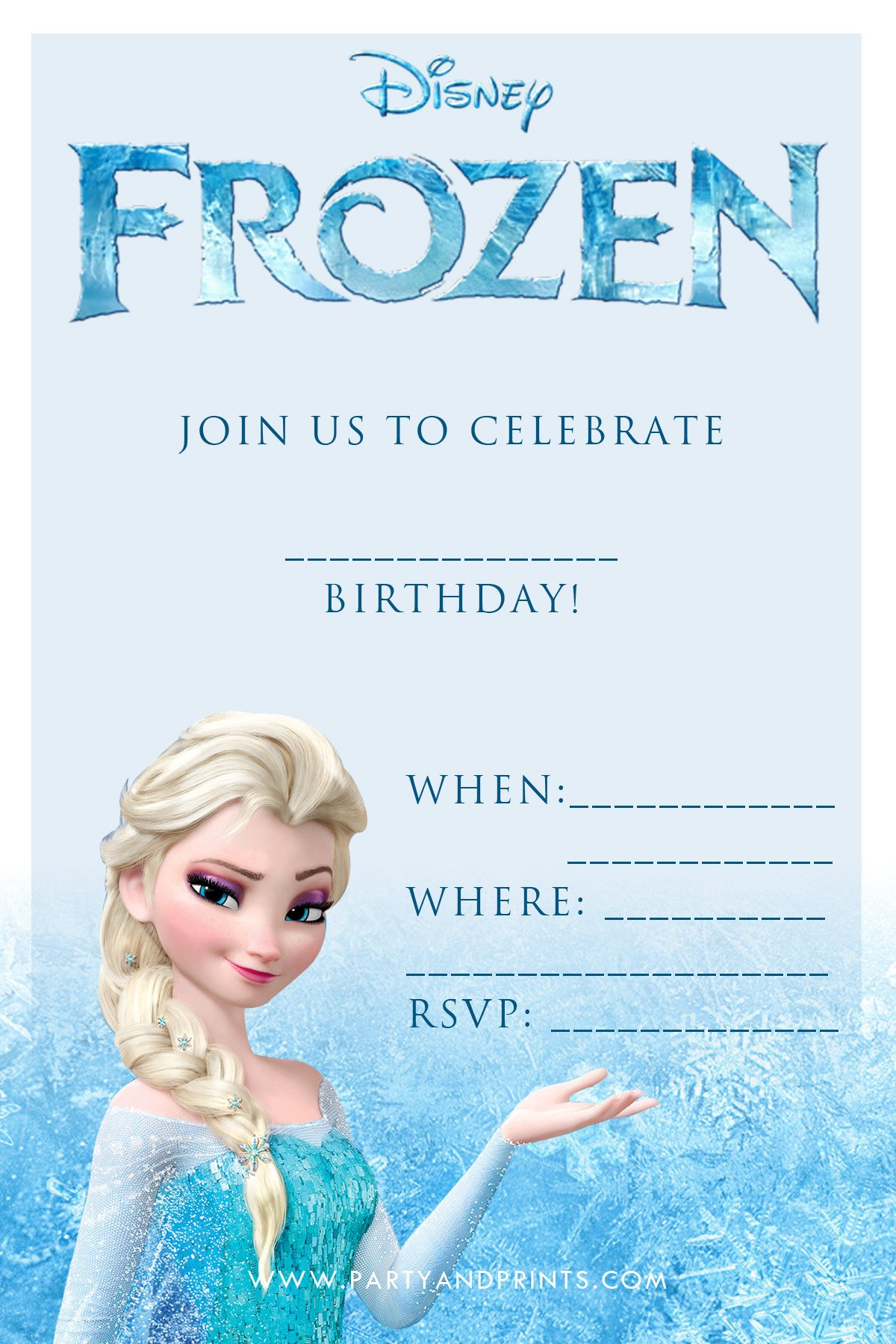 Frozen Bday Party Invitations 20 Frozen Birthday Party Ideas