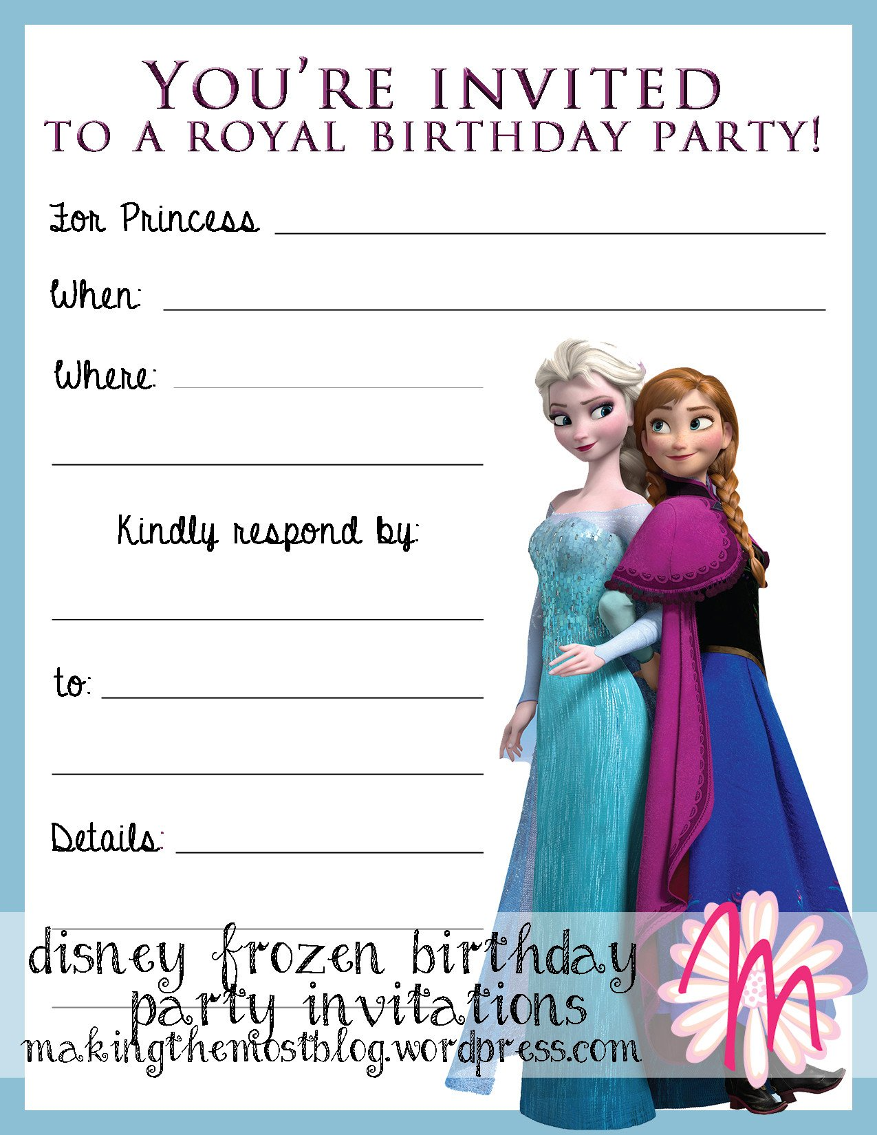 Frozen Bday Party Invitations 301 Moved Permanently