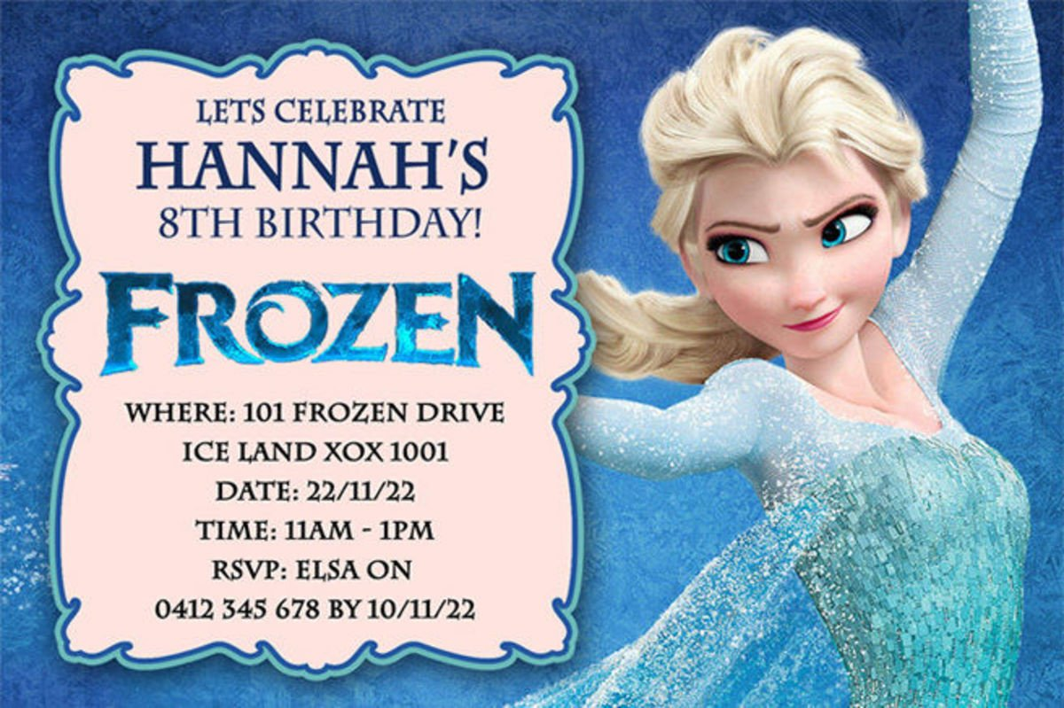 Frozen Bday Party Invitations Best Selection Of Frozen Personalized Birthday Invitations