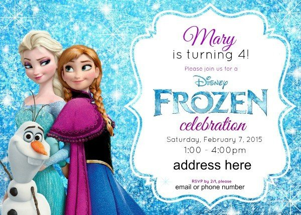 Frozen Bday Party Invitations Disney S Frozen Birthday Party Ideas Pink Purple Blue