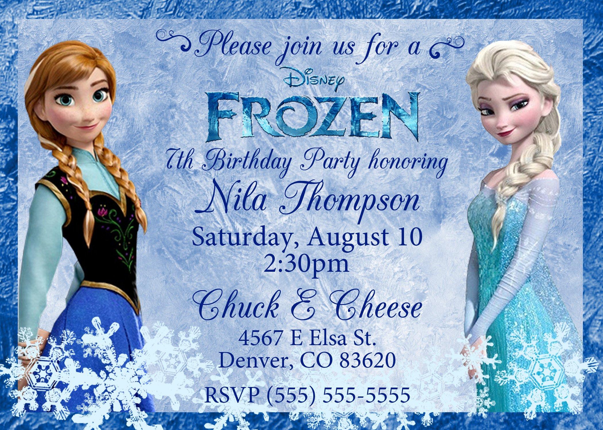 Frozen Bday Party Invitations Frozen 2013 Birthday Invitation