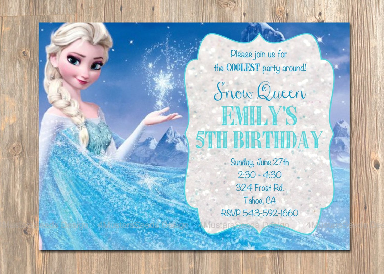 Frozen Bday Party Invitations Frozen Birthday Invitation Elsa Frozen Invitation Printable