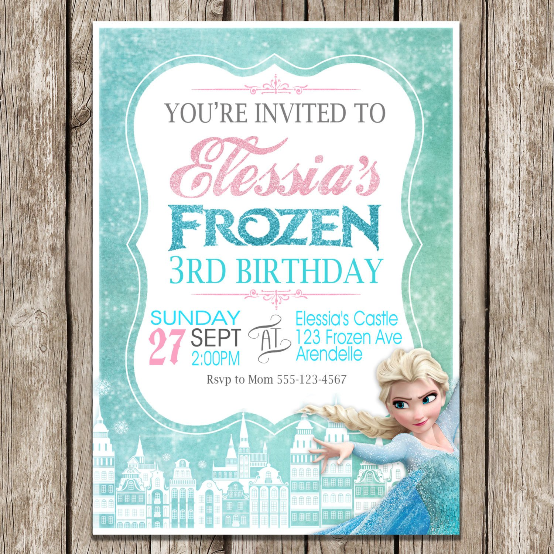 Frozen Bday Party Invitations Frozen Birthday Invitation Frozen Birthday Party Diy