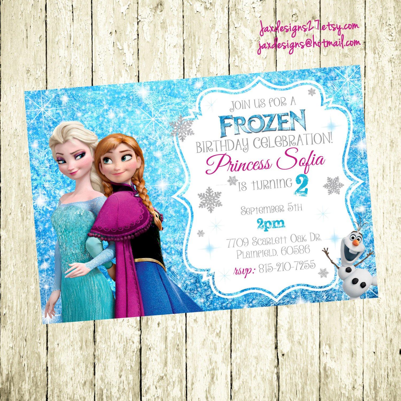 Frozen Bday Party Invitations Frozen Birthday Invitation Frozen Birthday Party Frozen