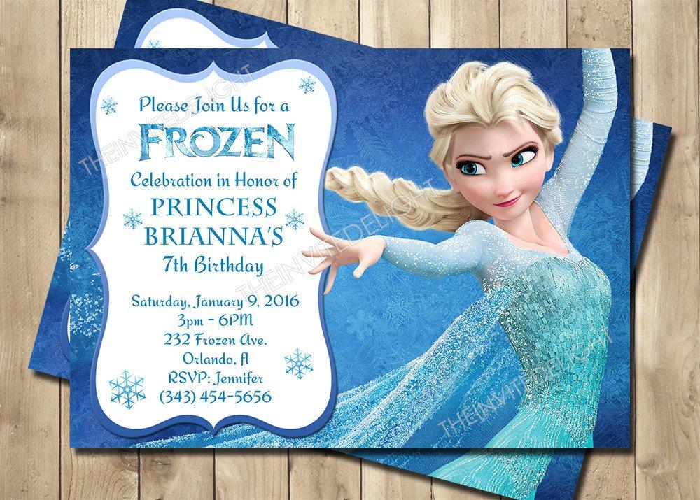 Frozen Bday Party Invitations Frozen Birthday Invitation Frozen Princess Elsa Invite