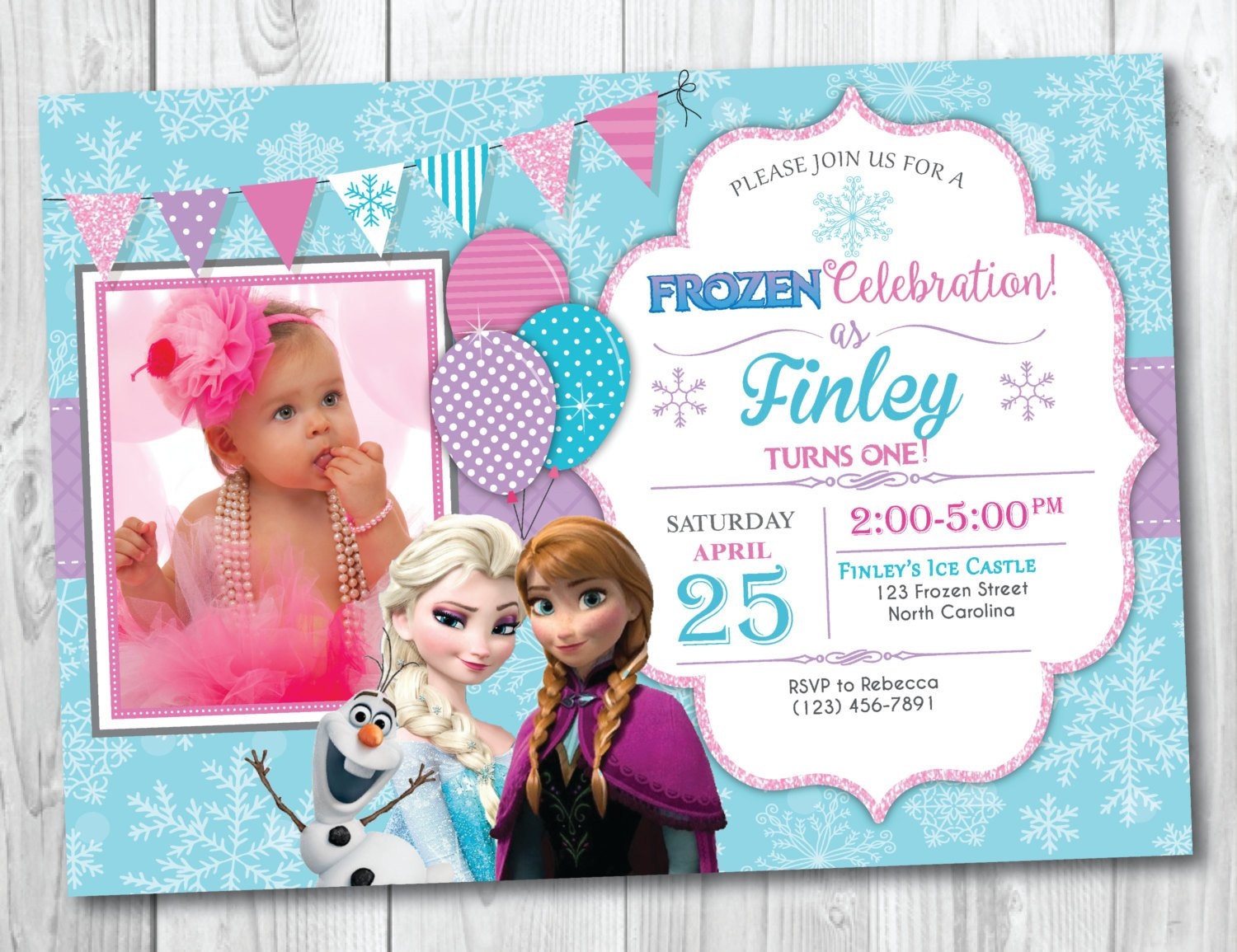 Frozen Bday Party Invitations Frozen Birthday Invitation Printable with Frozen