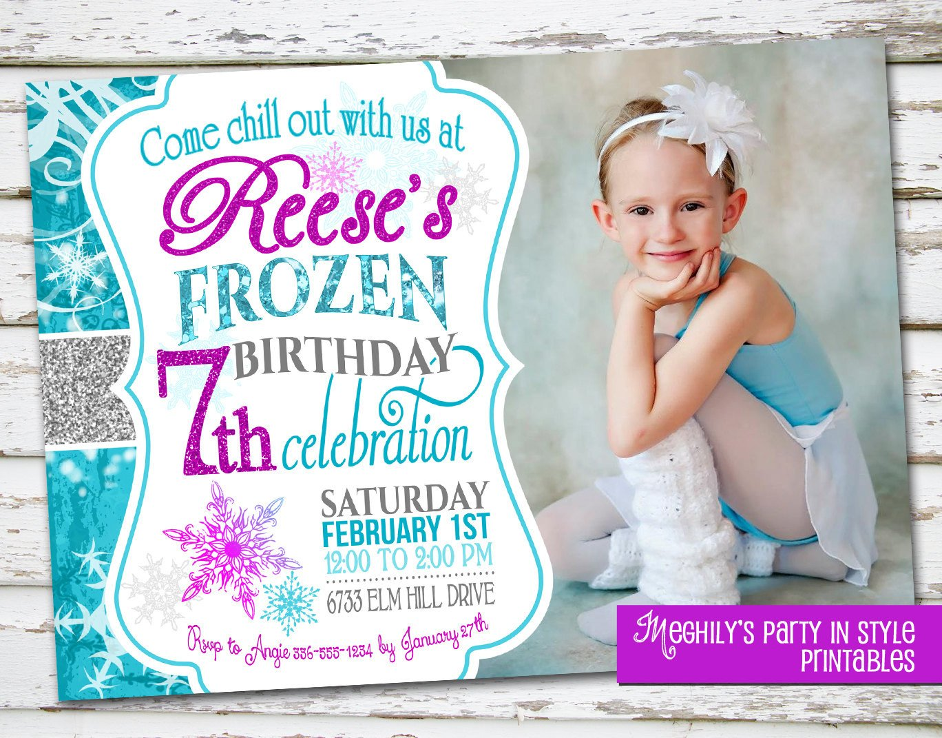 Frozen Bday Party Invitations Frozen Birthday Invitation with