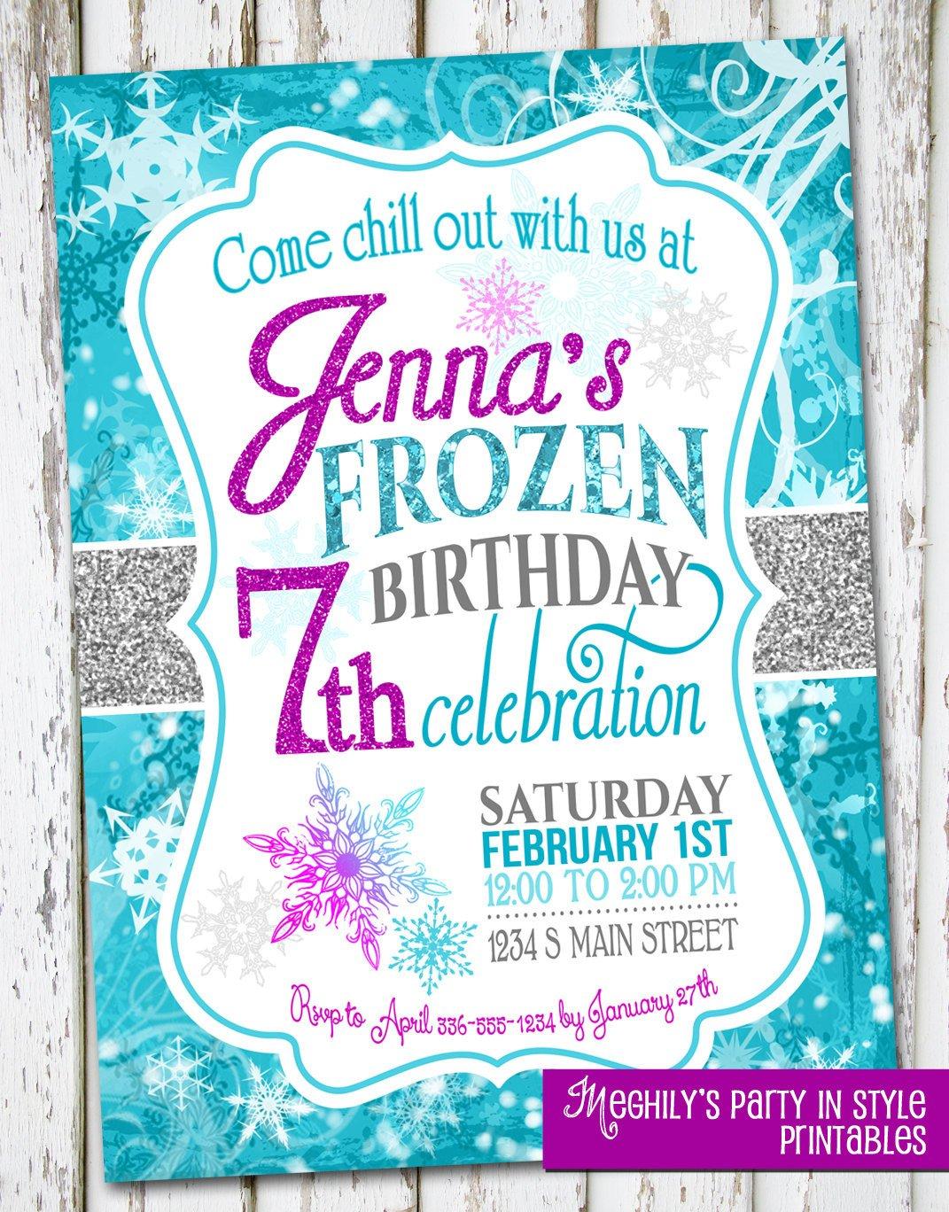 Frozen Bday Party Invitations Frozen Birthday Invite