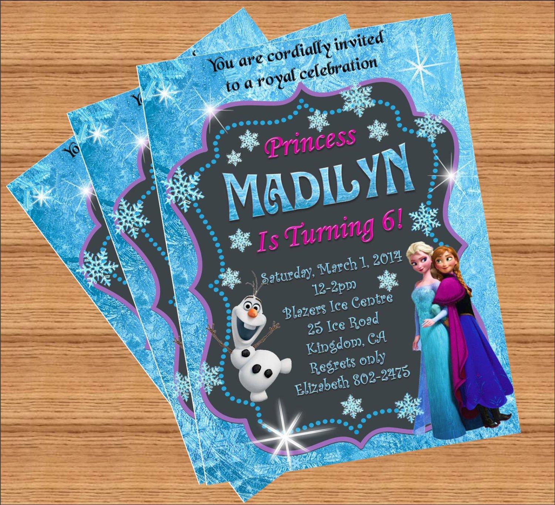 Frozen Bday Party Invitations Frozen Invitation Disney Frozen Birthday Invitation
