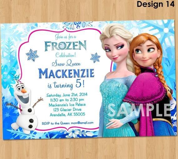 Frozen Bday Party Invitations Frozen Invitation Disney Frozen Invitation Printable