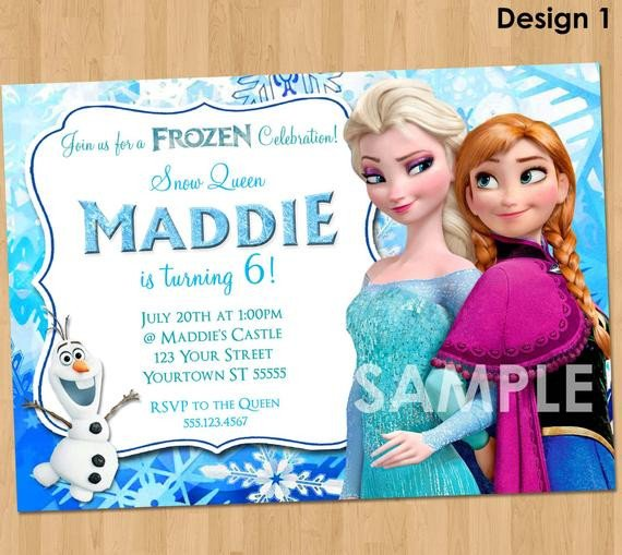 Frozen Bday Party Invitations Frozen Invitation Frozen Birthday Invitation Disney Frozen