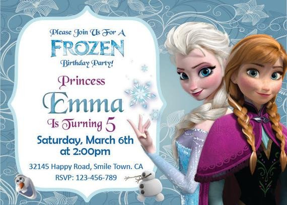 Frozen Bday Party Invitations Unavailable Listing On Etsy
