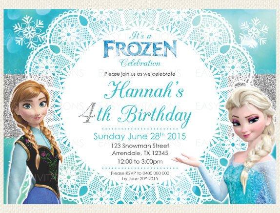 Frozen Birthday Invitations Cards 12 Frozen Birthday Invitation Psd Ai Vector Eps