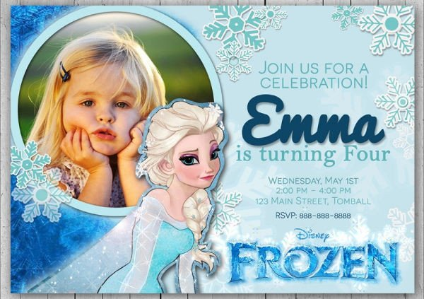 Frozen Birthday Invitations Cards 13 Frozen Invitation Templates Word Psd Ai