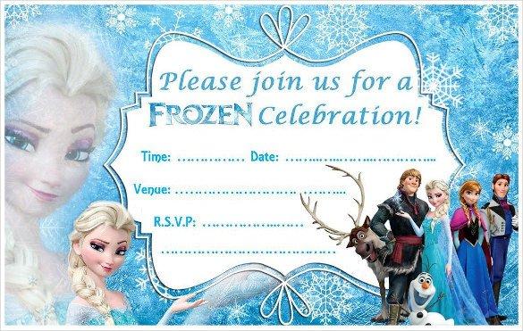 Frozen Birthday Invitations Cards 24 Heartwarming Frozen Birthday Invitations