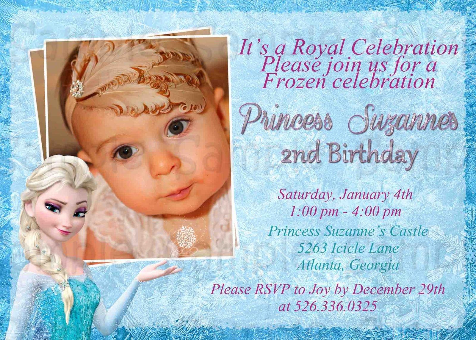 Frozen Birthday Invitations Cards Disney Frozen Birthday Invitation