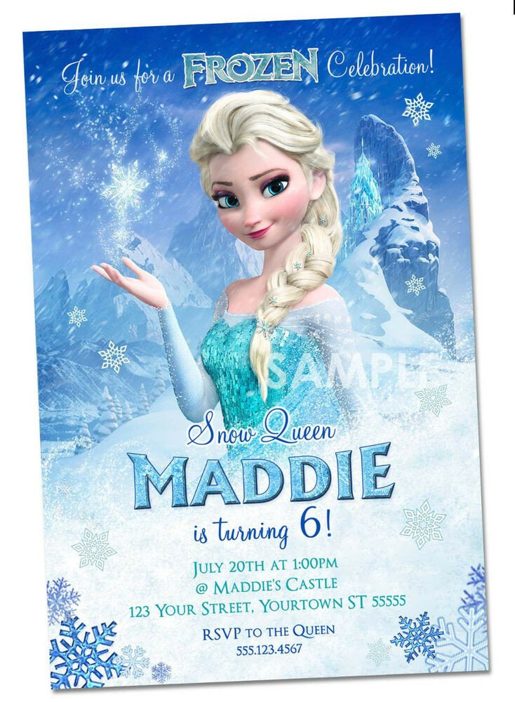 Frozen Birthday Invitations Cards Disney Frozen Invitations Personalized Frozen Party