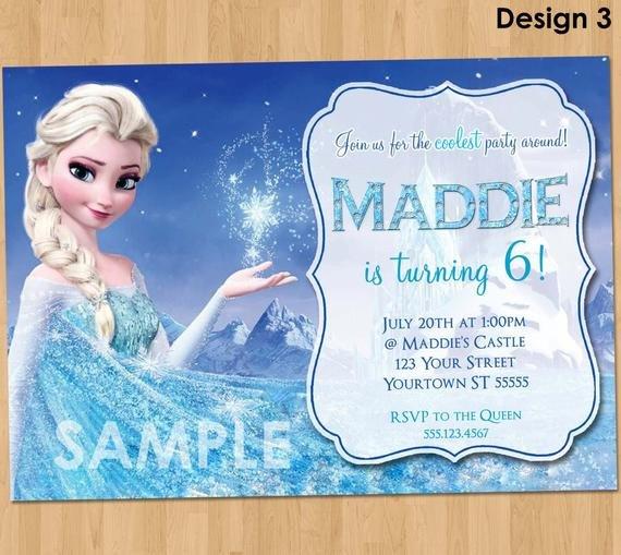 Frozen Birthday Invitations Cards Frozen Birthday Invitation Elsa Frozen Invitation