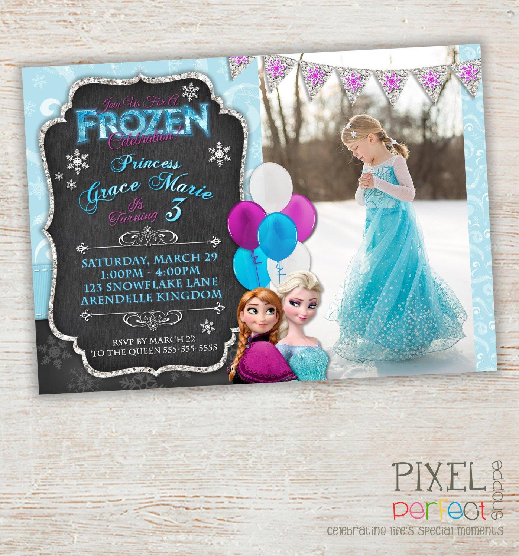 Frozen Birthday Invitations Cards Frozen Birthday Invitation Frozen Birthday Party Frozen
