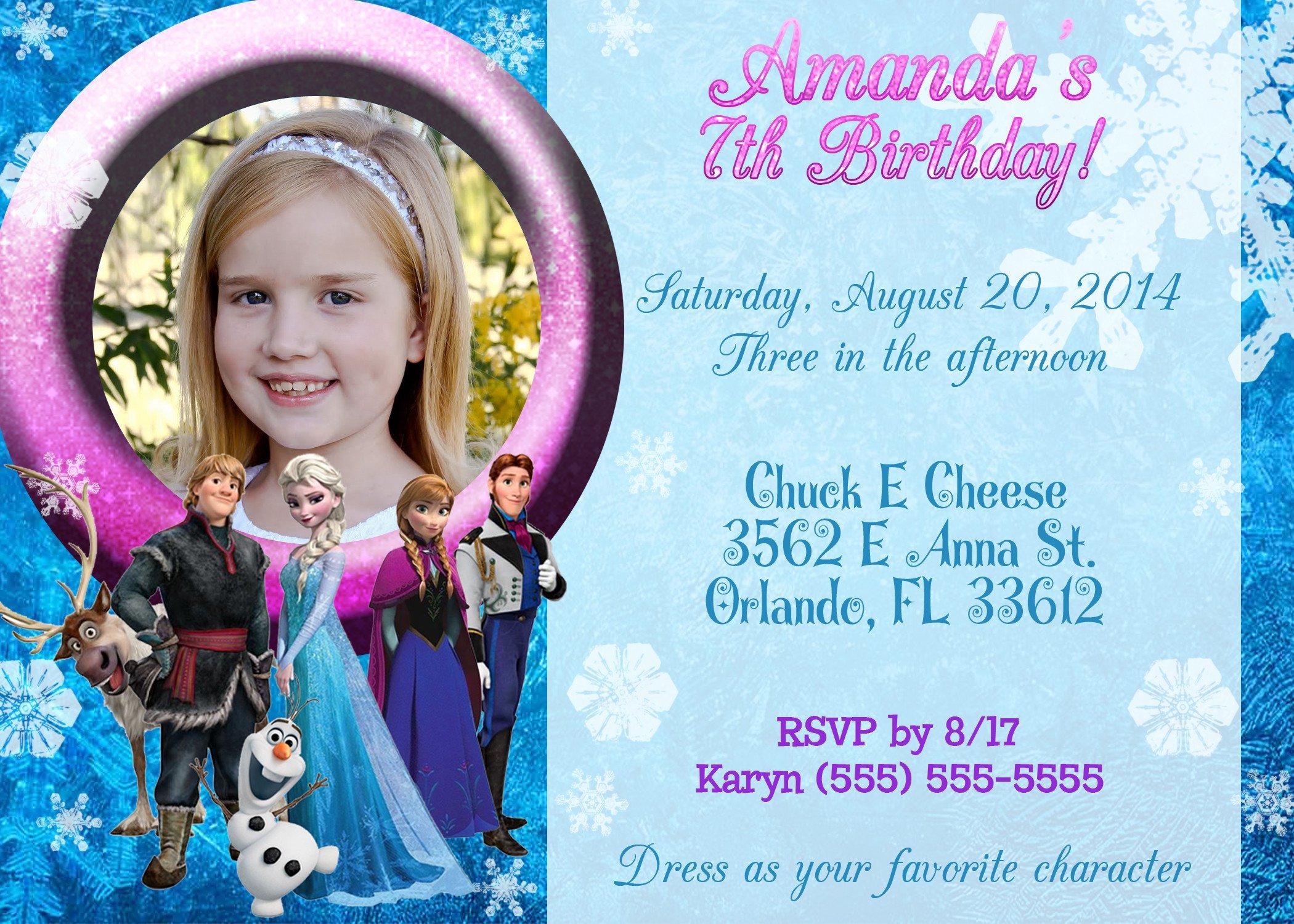 Frozen Birthday Invitations Cards Frozen Birthday Invitations