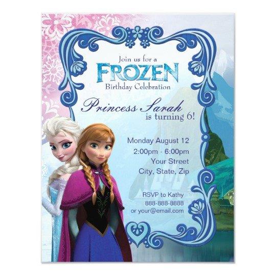 Frozen Birthday Invitations Cards Frozen Birthday Party Invitation