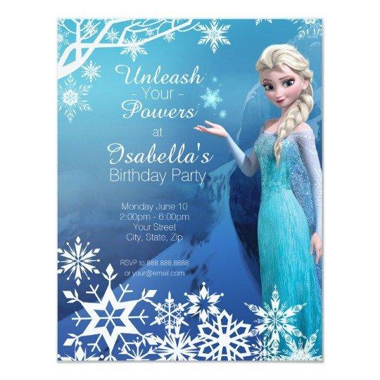 Frozen Birthday Invitations Cards Frozen Elsa Birthday Party Invitation