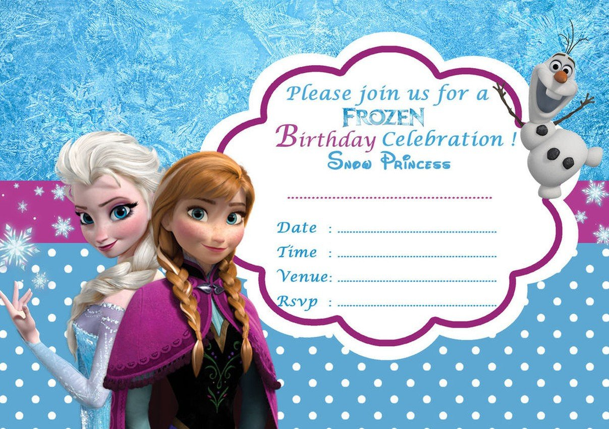 Frozen Birthday Invitations Cards Frozen Free Printable Invitation Templates