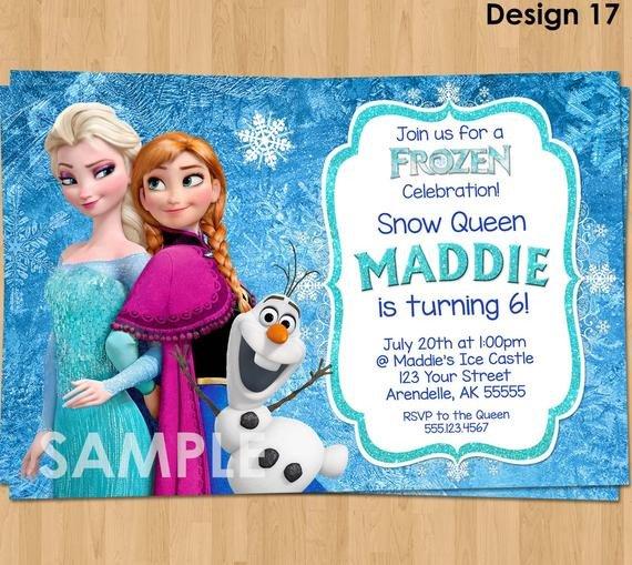 Frozen Birthday Invitations Cards Frozen Invitation Frozen Birthday Invitation Disney Frozen